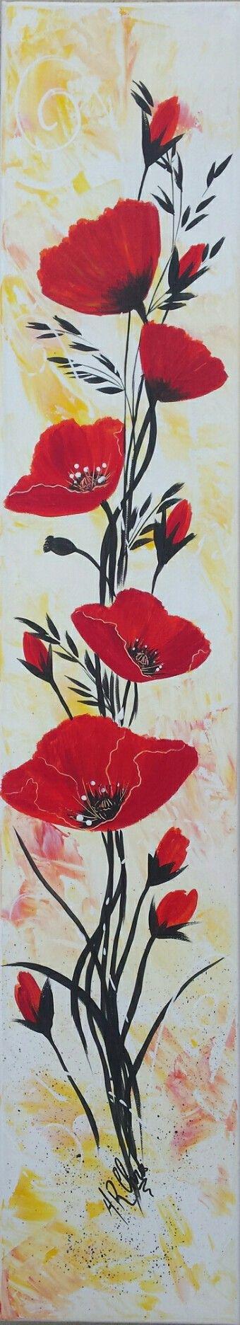 Peinture acrylique sur toile 15x80 By Raffin Christine Facebook : L'étoile de Chris