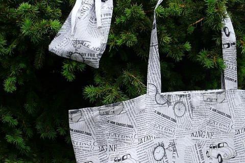 Jak ušít látkovou tašku s kapsou uvnitř   DIY