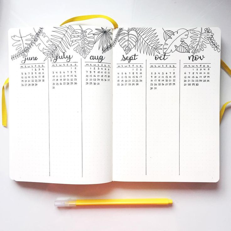 "231 Likes, 21 Comments - Meg (@maplebujo) on Instagram: ""My future log for my new bullet journal! I am so in love with botanical line drawings these days.…"""