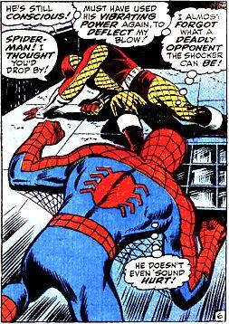 The Shocker vs Spiderman by John Romita Sr.
