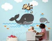 Vinyl Wall Decal Wall Sticker NurseryNurseries Wall, Nurseries Decals, Kids Wall, Photos Kids, Kids Room, Wall Decals, Wall Stickers, Kids Decor, Nurseries Ideas