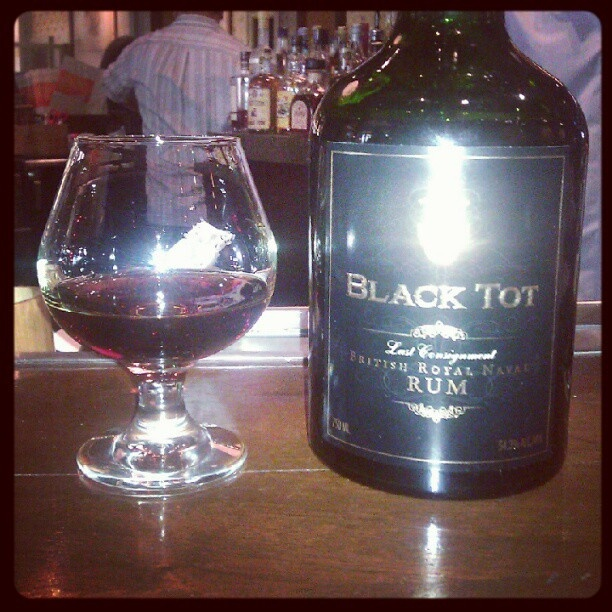 "Black Tot 40 Year Old Rum...  as the label says, ""You hold in your hands liquid history."": Black Tots, 40 Years Old, Tots 40, Liquid History, Hands Liquid"