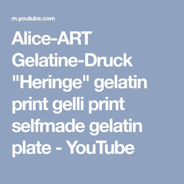 "Alice-ART Gelatine-Druck ""Heringe"" gelatin print gelli print selfmade gelatin plate - YouTube"