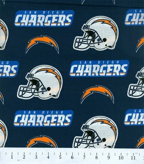 San Diego Chargers NFL Cotton Fabric