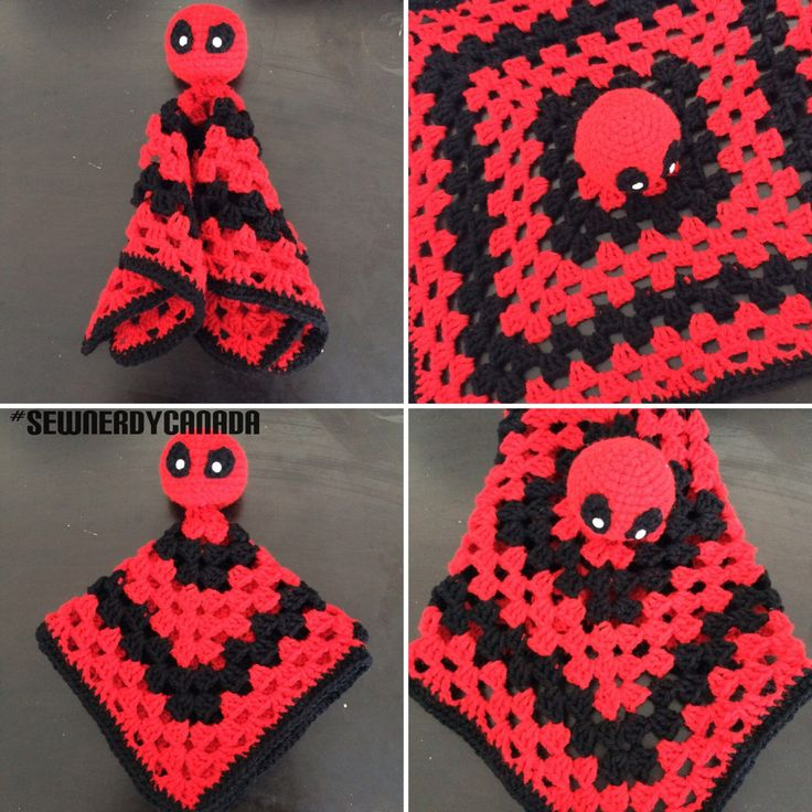 Deadpool Snuggle Buddy Crochet Pattern by SewNerdyCanada on Etsy https://www.etsy.com/listing/266729954/deadpool-snuggle-buddy-crochet-pattern