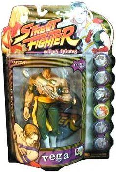 Street Fighter Alpha 3 Round One Player Three Vega Action Figure (Green Pants with Yellow Belt Varia @ niftywarehouse.com #NiftyWarehouse #StreetFighter #VideoGames #Gaming