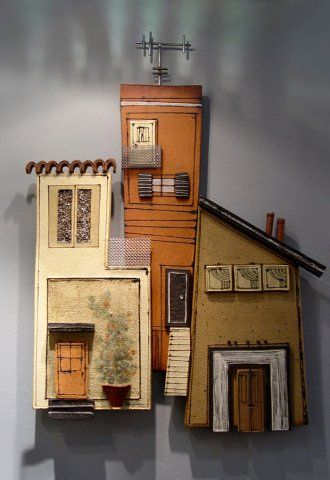 The Neighbourhood (Wall Sculpture)  47X65   T-18S Anastasaki Ceramics