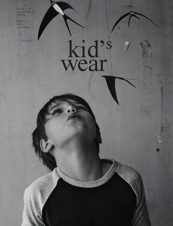 """kid's wear Vol.41  Discover the Autumn/Winter 2015/2016 edition. From the perspective of Pierpaolo Ferrari, Charlie de Keersmaecker, Achim Lippoth, Mike Meiré, Felix von der Osten and Bruce Weber. On the essay pages we are looking at 15 alternative schools. Everything from """"How to live wisely and well"""" to """"Learning by Dada"""".  We hope you will enjoy Cover by Achim Lippoth"""