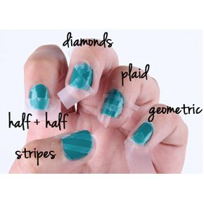 tape nails for the 4th and how to use tape to make designs