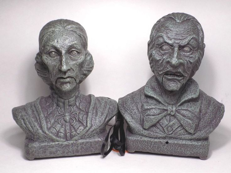 talking haunted busts ghost interactive velma evander halloween decoration