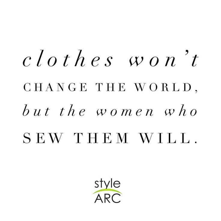 "Style Arc on Instagram: ""Changing the world, stitch by stitch!  #stylearc"""