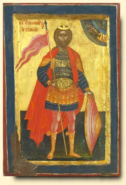 Saint Artemios - exhibited at the Temple Gallery, specialists in Russian icons