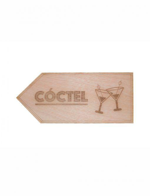 Cartel señalización cóctel para bodas