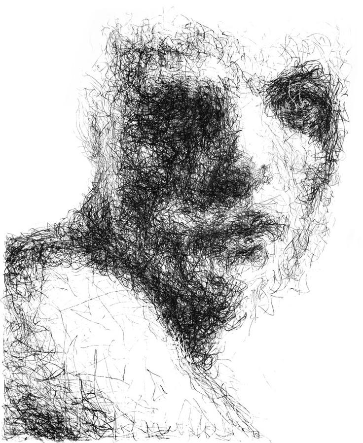 Vappu Rossi: Yllätetty, litografia