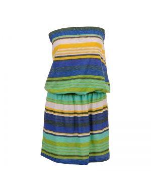 Στράπλες φόρεμα κοντό ριγέ.