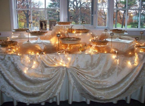 Buffet Table Food Display Ideas | ... display them on stands at different heights, and have a pie buffet