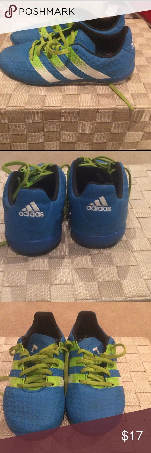 Youth Indoor Soccer Cleats Used less than 1 season - great condition.  Will clean laces before shipping Adidas Shoes Sneakers