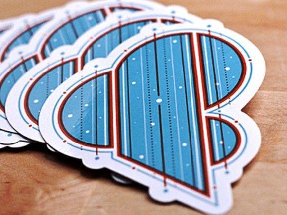 35 Contoh Desain Sticker Sebagai Media Promosi yang Efektif - 25. Amperstickers by 55 Hi's