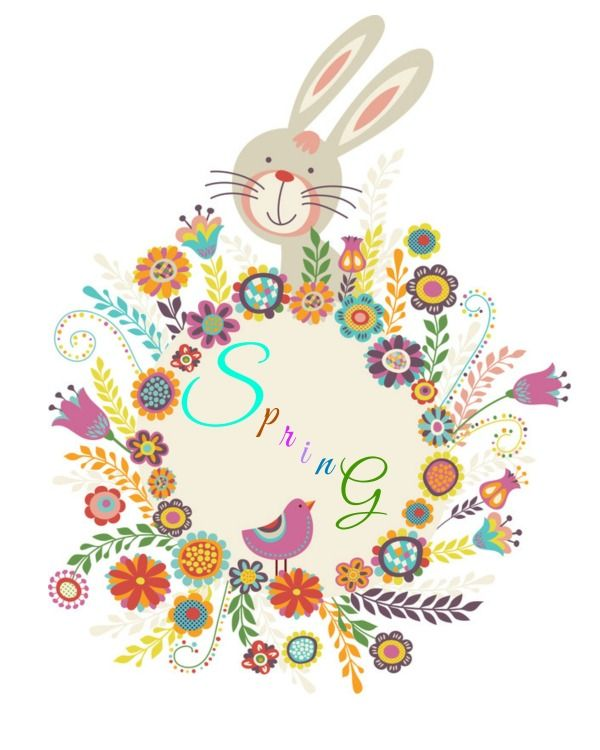 Spring wreath printable Plus 20 more free Spring printables.
