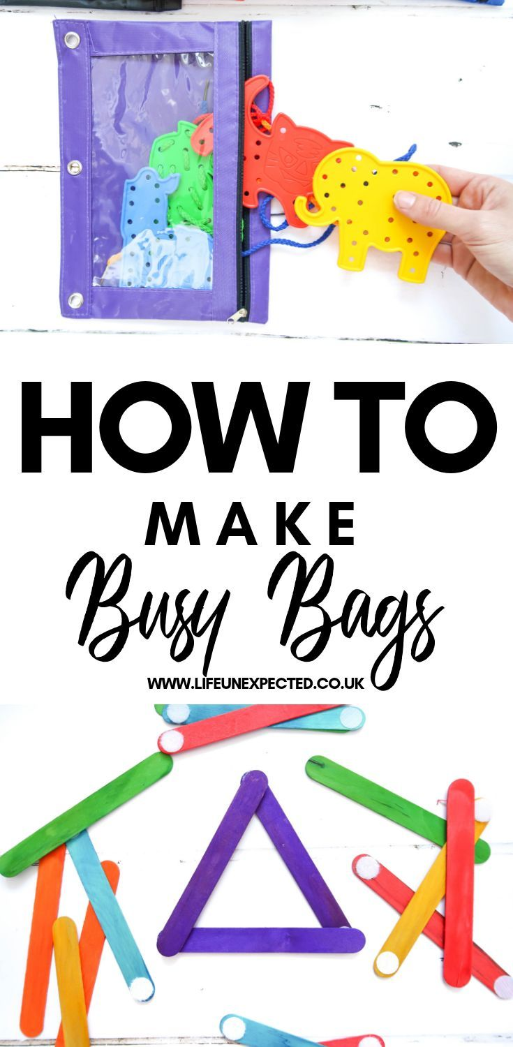 HOW TO MAKE BUSY BAGS