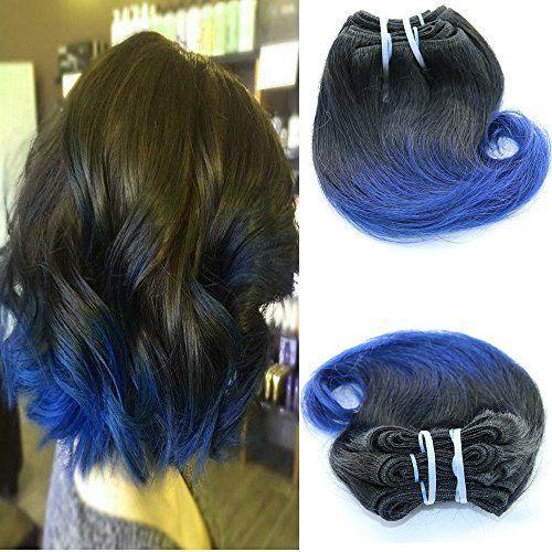 Full Shine 8 Pouces 100g/Lot Tissage Naturel Bresilien en Lot pas Cher Cheveux Wave Tissage Cheveux Humain Ombre Ondulé Tissage Humain Hair…