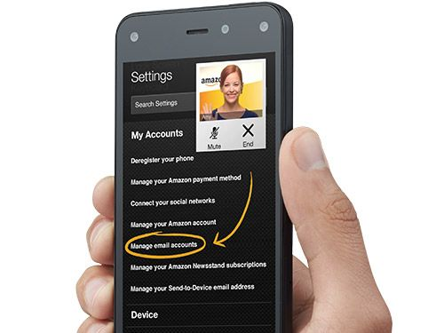 Amazon Fire Phone - Simply hit the Mayday button in quick actions and an Amazon expert will appear to help you via live video. Our tech experts can co-pilot you through any feature by drawing on your screen, walking you through how to do something yourself, or doing it for you—whatever works best. Throughout the process, you'll be able to see the Amazon expert live on your screen, but they won't see you.