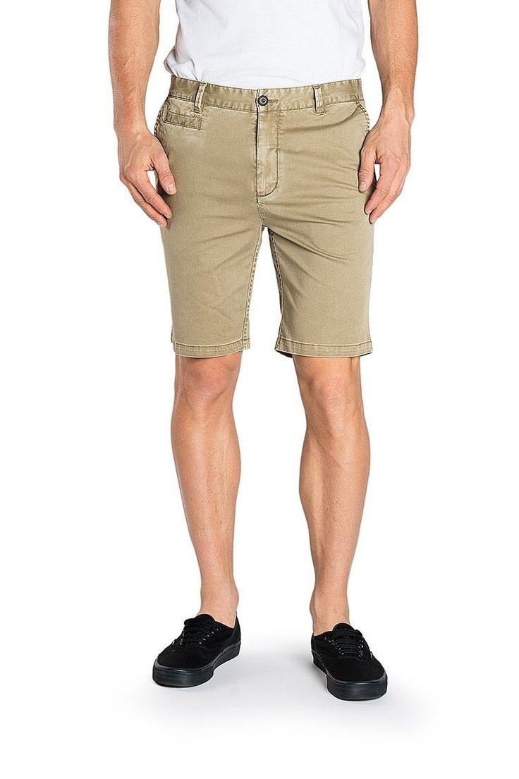 ELWOOD CLOTHING - Portland Slim Chino Short Sand