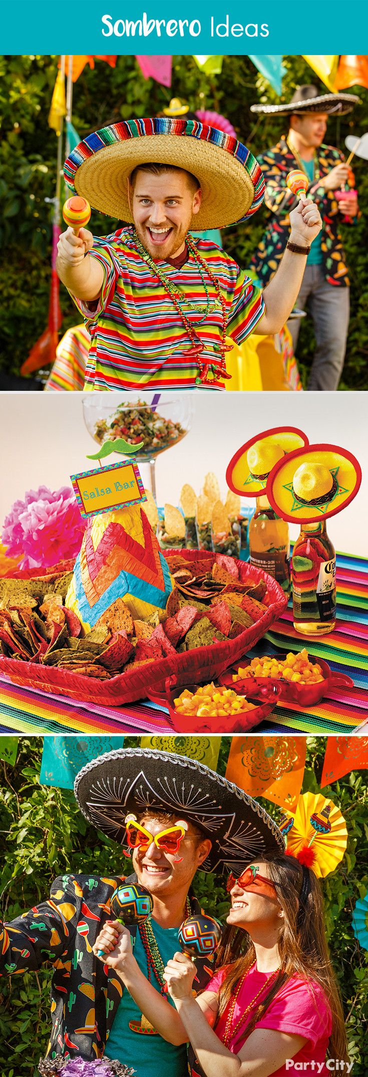 70 best images about fiesta cinco de mayo party ideas on pinterest mexican fiesta party - Cinco de mayo party decoration ideas ...