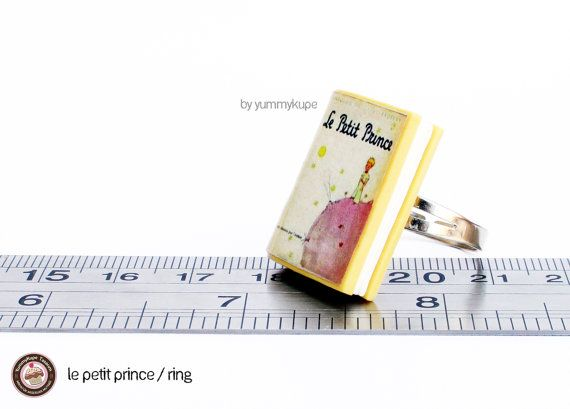 Miniature Little Prince Book / Ring by YummykupeShop on Etsy, $12.00