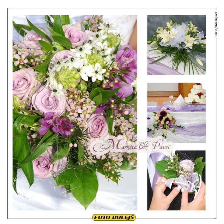 Markéta a Pavel, svatební květiny