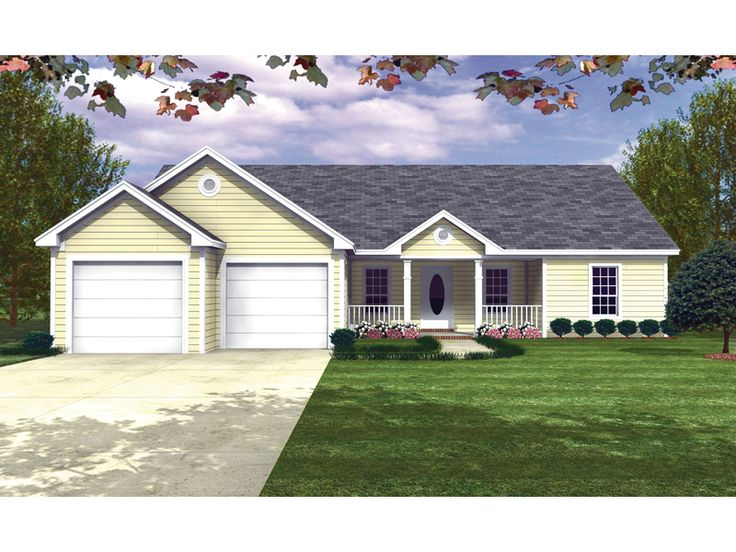 134 best images about house plans on pinterest wood for Classic ranch homes