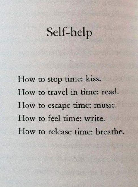 Self - help....