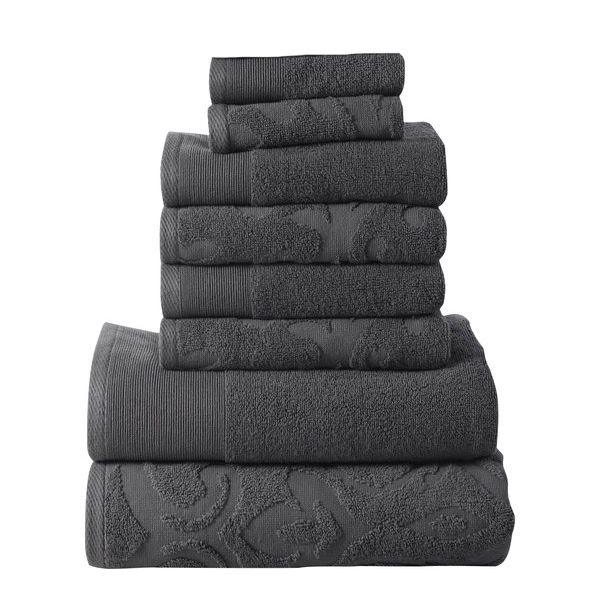 Affinity Elegance Egyptian Cotton 6 Piece Bath Towel Set Charcoal