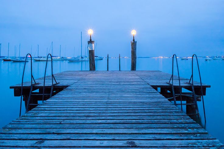 Blue hour (30 minutes after sunset) at Moniga del Garda, Italy