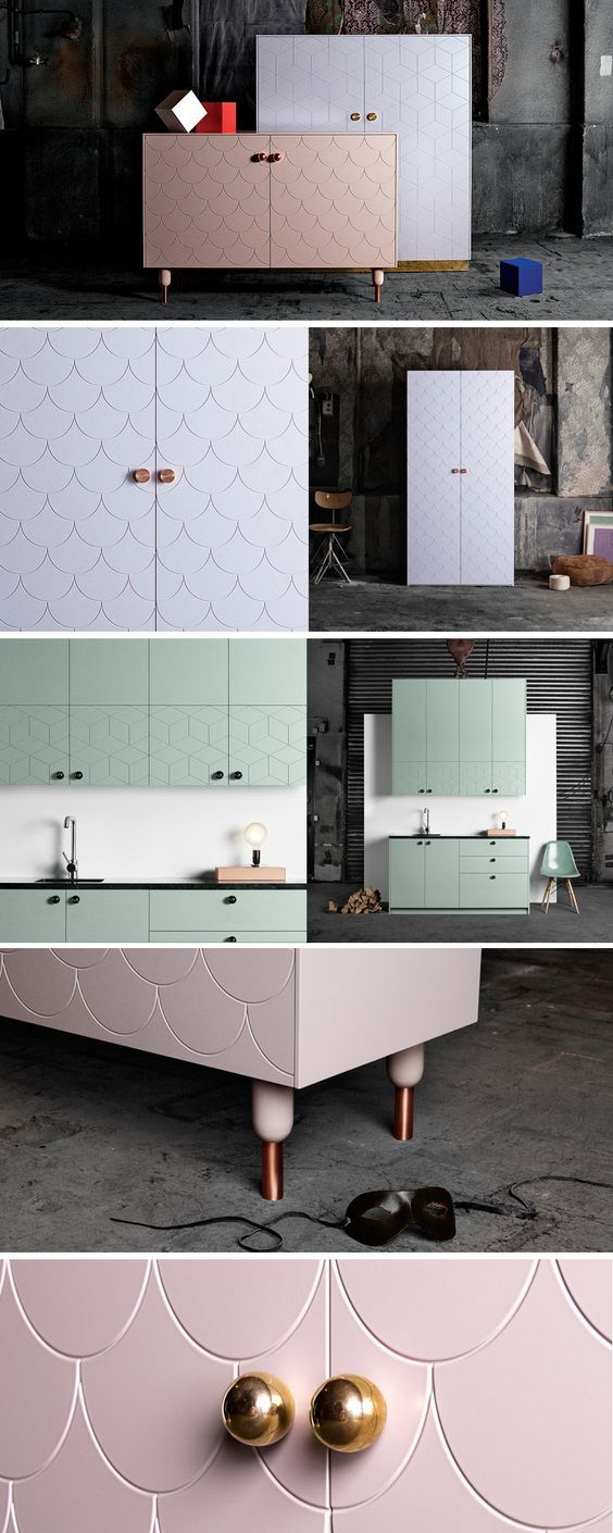 Everyone knows that IKEA is a Swedish company, but did you know there's another Swedish company named Superfront, that have a collection of fronts, handles, legs, sides, and tops that are specifically designed to fit onto IKEA's most common cabinets?