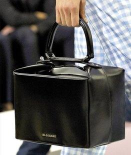 Jil Sander Pleated Cube Bag  Orlando .