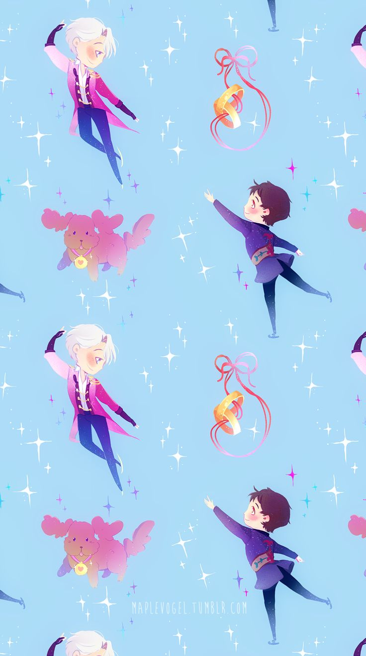 New Version Of My Earlier Victuuri Patterns After Some People Asked Me For Phone Wallpaper Format