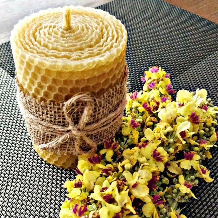 Natural handmade beeswax candles Натуральные свечи ручной работы из вощины