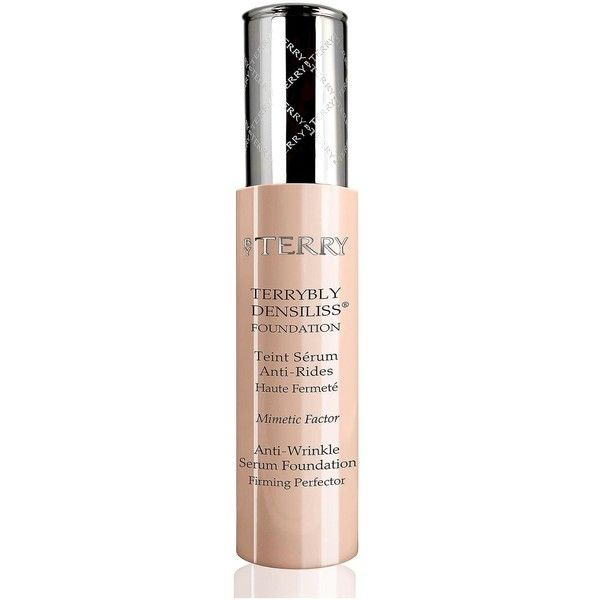 By Terry Terrybly Densiliss Foundation (5.745 RUB) ❤ liked on Polyvore featuring beauty products, makeup, face makeup, foundation, cream ivory, anti aging foundation, by terry foundation and by terry