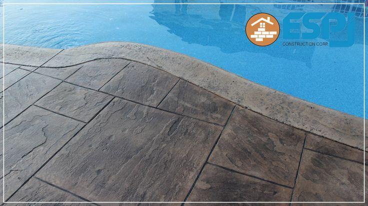 Concrete pool coping construction pool patios for Concrete pool builders