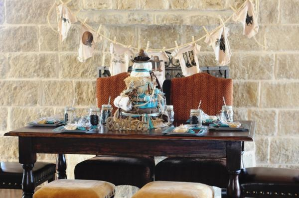 Turquoise Western Baby Shower
