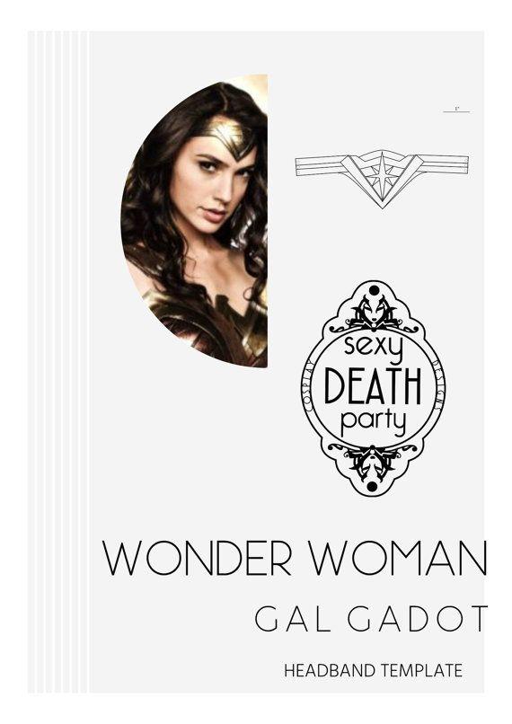 Wonder Woman Headband Template PDF Download