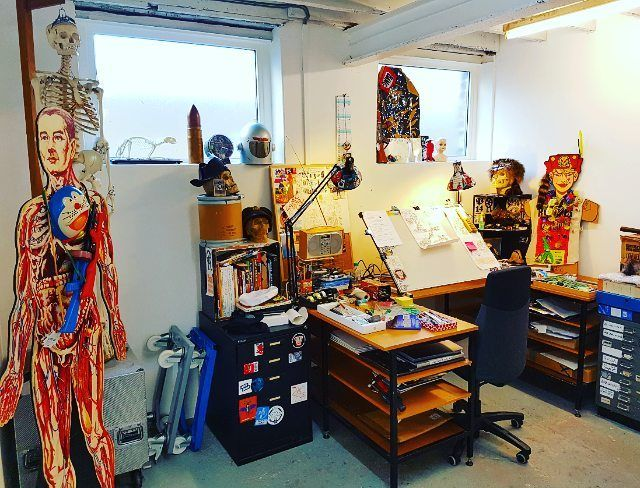 New studio is go! Huge thanks to Bon Volks studio in Margate, my new home from home. Now to draw some comic books. #comics #comicbooks #art #rufusdayglo #petermilligan #domregan #counterfeitgirl #judgedredd #bladerunner #scifi #tankgirl #2000ad #studio #margate #bonvolks #welovemargate #wlm