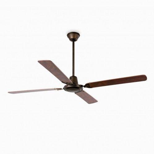 MALVINAS Ventilador Faro 33111 de techo marrón óxido