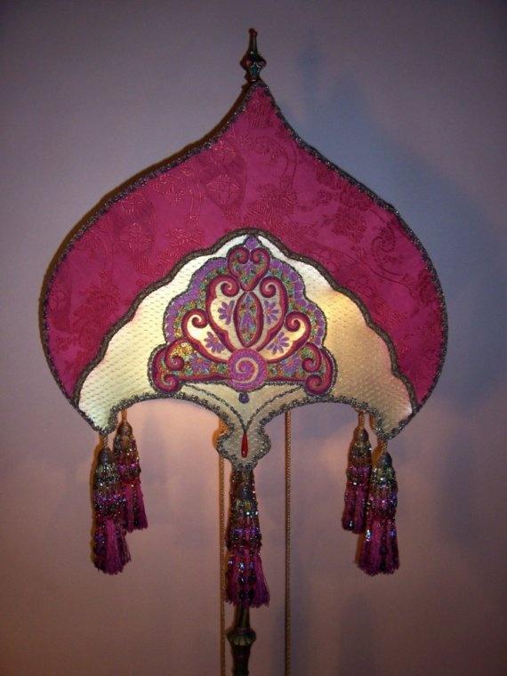 Elaborate Bohemian Beaded 8 Tasseled Floor Lamp