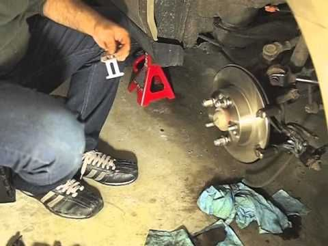 Brake replacement, rear caliper, rotor and pads on Honda Accord 2003 V6 03 - 07 - http://www.thehowto.info/brake-replacement-rear-caliper-rotor-and-pads-on-honda-accord-2003-v6-03-07/