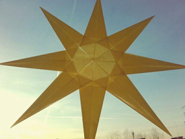 Waldorf star. Advent.  Waldorf School Warsaw