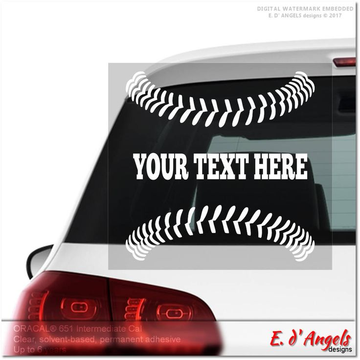 Baseball laces car decal decal for cars car decal monogram car decal for women custom car decal car decal for men stickers for car