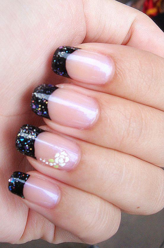 Dark french nails