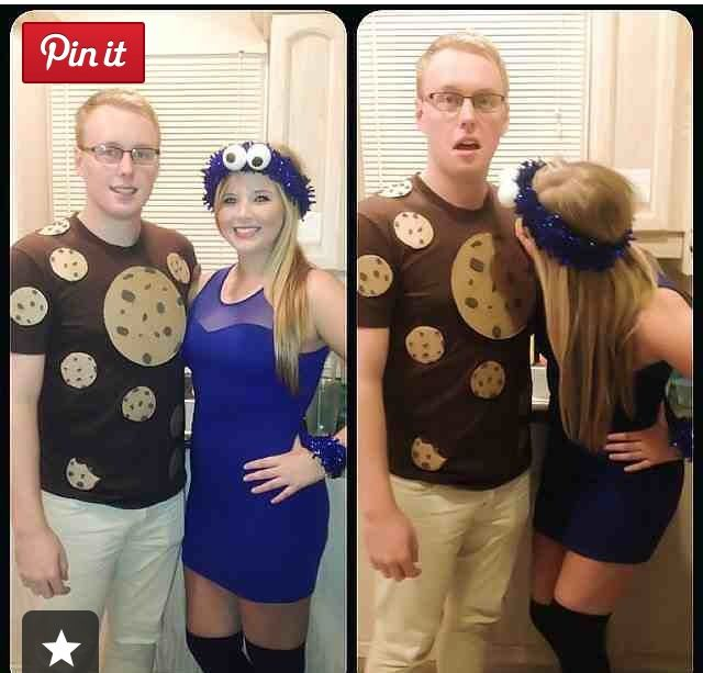Cookie Monster and a cookie costume · Couple Costume IdeasHalloween ...  sc 1 st  Pinterest & 26 best Halloween costumes images on Pinterest | Happy halloween ...